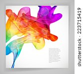 multicolor abstract bright... | Shutterstock .eps vector #223715419