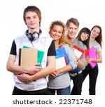 group of  young  joyful... | Shutterstock . vector #22371748