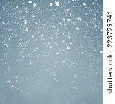 snowfall with light blue... | Shutterstock . vector #223729741