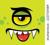cartoon expression monster | Shutterstock .eps vector #223735489