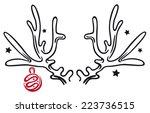 reindeer antler with christmas... | Shutterstock .eps vector #223736515