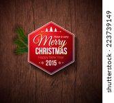 typographic label for merry... | Shutterstock .eps vector #223739149