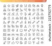 travel line icons for web and... | Shutterstock .eps vector #223752775