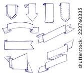 vector hand drawn doodle... | Shutterstock .eps vector #223760335