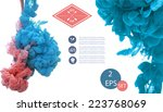 vector isolated cloud of blue... | Shutterstock .eps vector #223768069