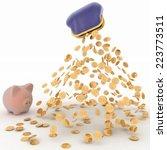 piggy bank and dollar  finance... | Shutterstock . vector #223773511
