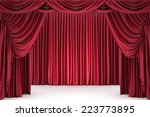 open red theater curtain  lit... | Shutterstock . vector #223773895