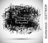 vector grunge black abstract... | Shutterstock .eps vector #223778539
