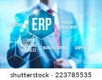 erp computer software concept... | Shutterstock . vector #223785535