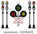 Rail Traffic For Trains On A...