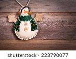 hand made felt snowman... | Shutterstock . vector #223790077