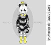 fashion illustration of cute... | Shutterstock .eps vector #223791259