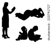 Vector Silhouette Of People Who ...