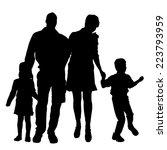 vector silhouette of family on... | Shutterstock .eps vector #223793959