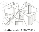abstract architectural sketch...