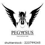 Pegasus Horse Head. Suitable...