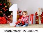 Happy Child On The Floor Under...