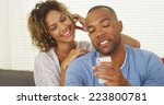girlfriend watching over... | Shutterstock . vector #223800781