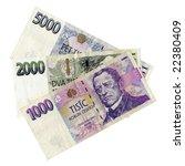 Czech Korunas Czk Banknotes...