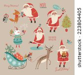 stylish new year and christmas... | Shutterstock .eps vector #223804405