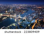 London At Night With Urban...