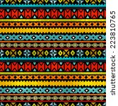 tribal art ethnic seamless... | Shutterstock . vector #223810765