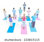 group of healthy people in the... | Shutterstock . vector #223815115