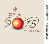 happy new year 2015... | Shutterstock .eps vector #223819525