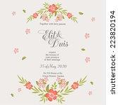 wedding invitation | Shutterstock .eps vector #223820194