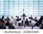 businessman giving presentation ... | Shutterstock . vector #223821064