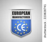 european manufacturer | Shutterstock .eps vector #223828741