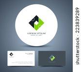 vector business card template... | Shutterstock .eps vector #223839289