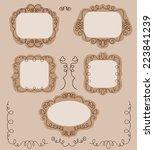 set of doodle spring frames... | Shutterstock . vector #223841239