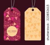 vector christmas decorations... | Shutterstock .eps vector #223852615