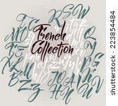 vector alphabet. hand drawn... | Shutterstock .eps vector #223854484