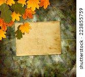 bright multicolored autumn... | Shutterstock . vector #223855759