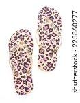 flip flop fashion plastic shoes ... | Shutterstock . vector #223860277