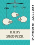 baby shower invitation ... | Shutterstock .eps vector #223861555
