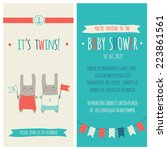 baby shower invitation ... | Shutterstock .eps vector #223861561