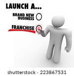 launch a brand new business or... | Shutterstock . vector #223867531