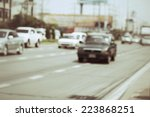blurred of car on road | Shutterstock . vector #223868251