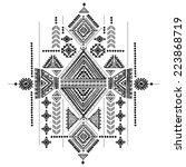 tribal vintage ethnic... | Shutterstock .eps vector #223868719