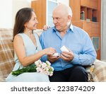 mature couple  having romantic... | Shutterstock . vector #223874209