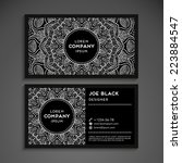 vintage business card | Shutterstock .eps vector #223884547