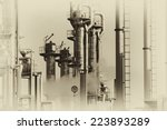 oil and gas refinery in old... | Shutterstock . vector #223893289