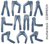 men's jeans in different poses... | Shutterstock . vector #223898524