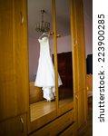 wedding dress | Shutterstock . vector #223900285