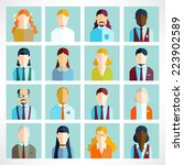 people icons. people flat icons ... | Shutterstock .eps vector #223902589