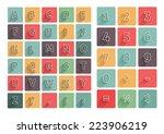 flat alphabet a z icons...