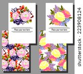 wedding invitation cards with... | Shutterstock .eps vector #223908124